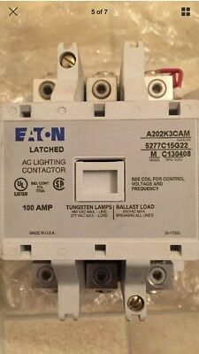 New Eaton/cutler-Hammer A202K3Cam 100 Amp Latched 120V Ac Lighting Contactor New