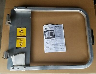 PS Doors LSG-33-PCY - Safety Gate - 31-3/4 to 35-1/2 In - Aluminum
