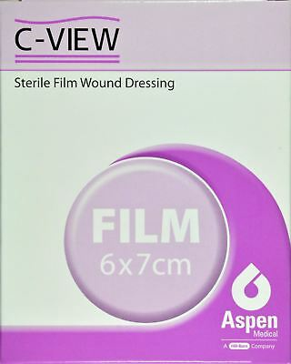 C-View Sterile Film Would Dressing, 6cm x 7cm, Pack of 10