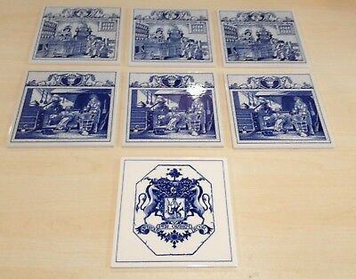 Burroughs Wellcome Co. Pharmacy Pill Tiles, Lot of 7 (3 designs)