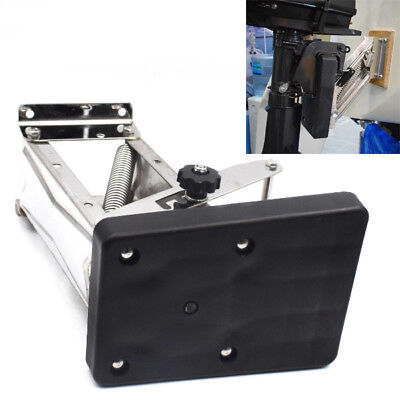 Black Heavy Duty Stainless Steel Outboard Motor Bracket Up To 25HP for Boat Nice