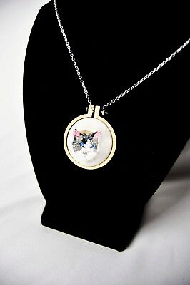 Embroidered Ragdoll Cat Necklace