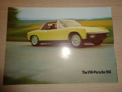 Original VW-Porsche  914 Brochure Catalogue from the 70's. English.