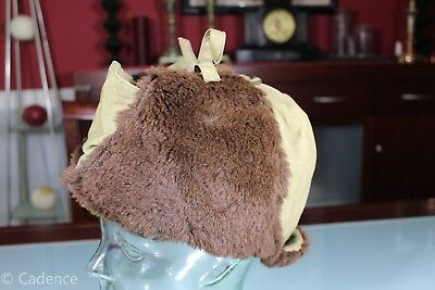 US WW2 USMC Marine Corps Iceland Pattern Cold Weather Hat Cap. Named. Nice. Rare