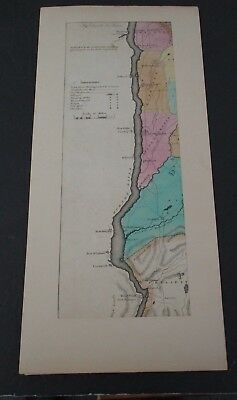 1829 DUTCHESS & PUTNAM COUNTY Hand-Colored Map by David H Burr