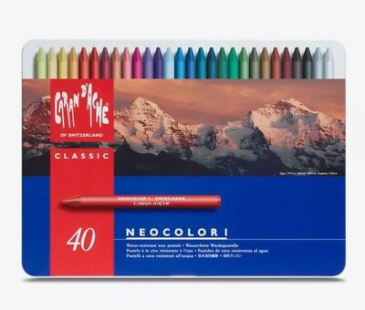 Caran d'Ache : Classic Neocolor I : Assorted Tin Of 40