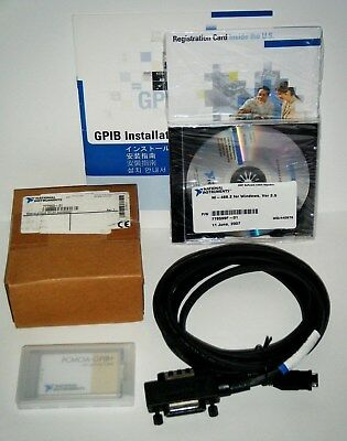 NI PCMCIA-GPIB+ Kit,  w/4M Cable, GPIB Analyzer Controller, National Instruments