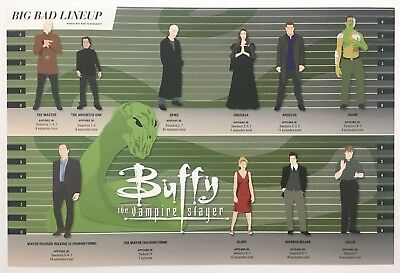 """SDCC 2018 Buffy the Vampire Slayer Stats Big Bad Line-Up Promo Poster 18"""" x 12"""""""