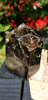 661g Smoky Citrine Quarz Wand Point Crystal Obelisk