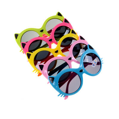Girls Boy 5 Colors Cartoon Cat Anti UV400 Eyeglasses Toddler Baby Sunglasses GX