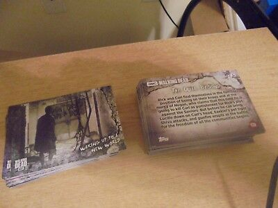 2018 The Walking Dead Road Alexandria  Complete Set  cards 1-100 Hand collated 4