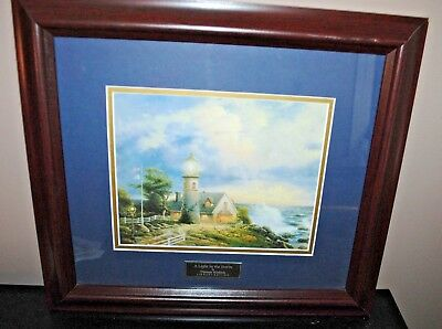 Merveilleux Home Interiors Thomas Kinkade A Light In The Storm Library Edition Picture  COA