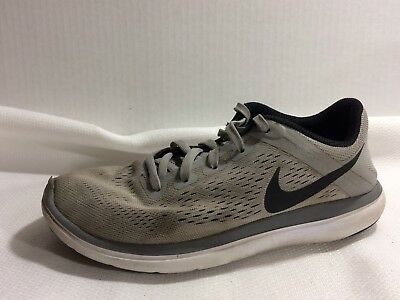 003568d92b916 Nike Flex 2016 Run Athletic Shoes Boys 3.5 Youth 834275-002 Grey Black  Sneakers