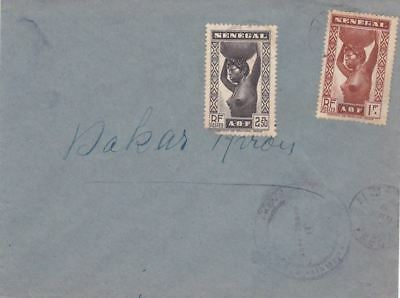 1940s Senegal #184,#187 on Censored Cover; Nude topical  *d
