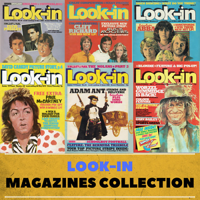 Look-In Magazines Job Lot on 2 Data DVD's Television Music Features Interviews