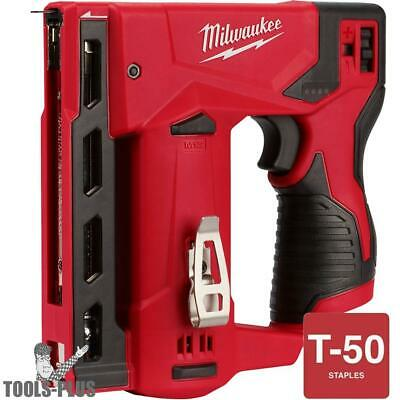 "Milwaukee 2447-20 M12 3/8"" Cordless Crown Stapler (Tool Only) New"