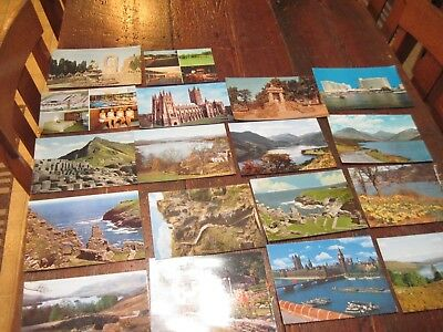 Vtg Lot 19 Large Post Cards Around The World Water 18 Unused 1 Used England Old