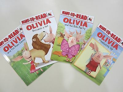 Ready-to-Read OLIVIA Lot of 4 NEW Paperbacks Level One Grade 1