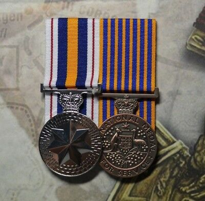National Police Service Medal and National Medal pair - NSW Police
