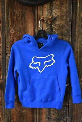 Fox Youth Legacy Pullover Fleece Hoodie size Small Royal Blue