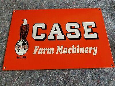 Case Tractor Farm Machinery Thick Metal Sign Made in USA Racine WI gas oil