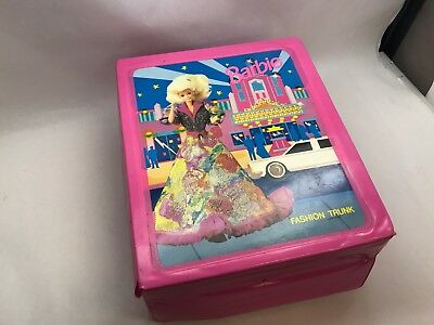 1990s BARBIE Fashion TRUNK w BARBIE Clothes 96 SHOES and Accesories