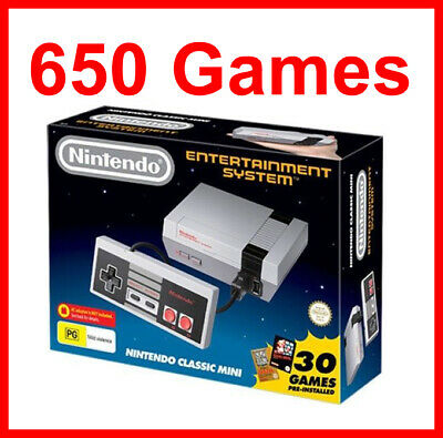 NEW Genuine Nintendo classic mini with 650 Nintendo games PAL NES console