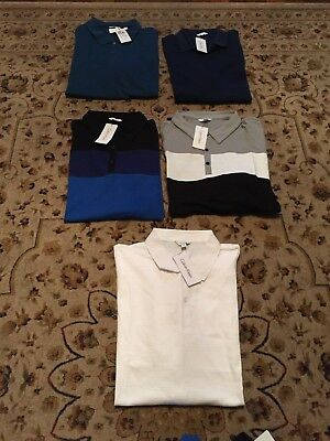 New With Tags Calvin Klein Men's Polo Shirt Short Sleeve Assorted Colors/sizes