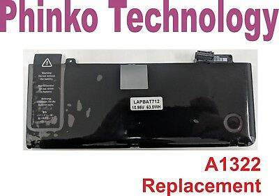 Replacement Battery A1322 Apple MacBook Pro 13 inch Unibody A1278 2009 2010 2011
