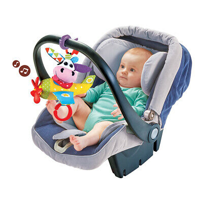 Yookidoo Tap 'N' Play Musical Plane Stroller Car Seat Toy – Cow