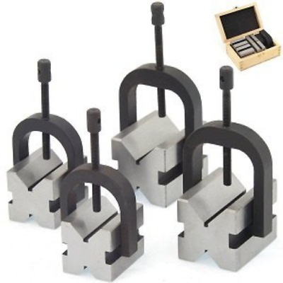 Anytime Tools 8 pc V-BLOCK & CLAMP DOUBLE SIDED 90° MACHINIST TOOL