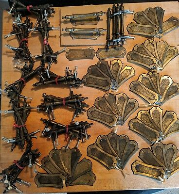 Vintage 102 Piece Lot Antiqued Brass Cabinet Drawer Pulls Hardware Allison 463