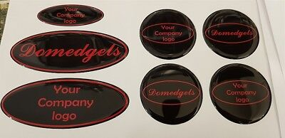 Custom Ford gel badge Fiesta, Focus ST ZS, grill,boot,steering & centers , 7 set