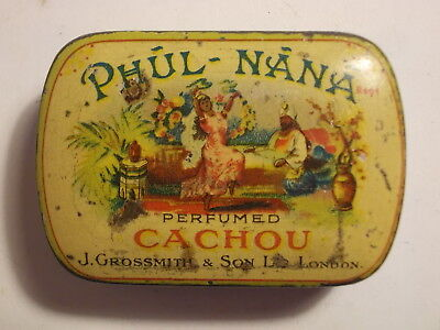 """Phul Nana"" 100yrs Old Cachou Picture Tin. G"