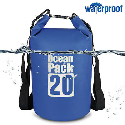 [High Capacity] 20L Waterproof Dry Bag-Roll Top Dry Pouch F Outdoor Water Sports