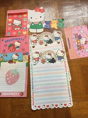 Vintage Sanrio Hello Kitty Stationery Papers And Some Envelopes 1995 Rare