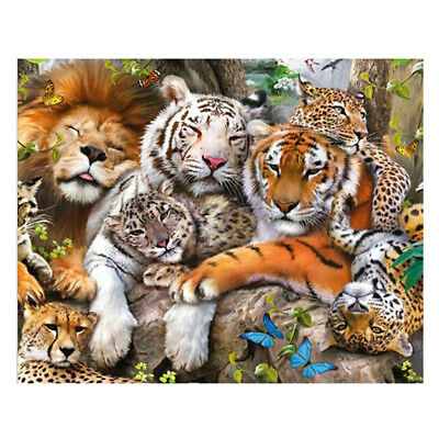 5D Diamond Embroidery Tiger Family Painting DIY Art Stitch Craft Kit Cross Decor