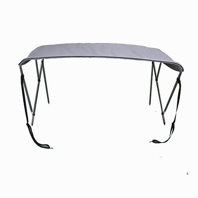 "3 Bow Bimini Top Boat Tent Cover with Rear Support Pole 6' L x 46""H x 61""-66""W"