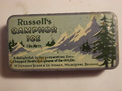 Old Chemist CAMPHOR ICE 1oz. Picture Tin. G