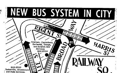 Sydney 1960 Railway Sq Route Special Bus Stop $5