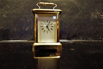 Miniature Carriage clock retailed by London Clock Company made in France