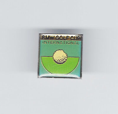 BMW GOLF CUP INTERNATIONAL acrylic enamel badge - golf ball