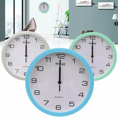 Vintage Style Round Silent Sweep Wall Clock Battery Powered Home Bedroom Decor