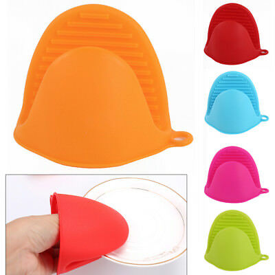 Sale Silicone Home Kitchen Oven Baking Glove Pot Mitt Tool Holder Heat Resistant
