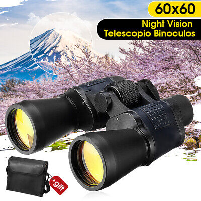 60x60 Binoculars HD Telescope Day/Night Vision Army Zoom 3000M Folding Camping