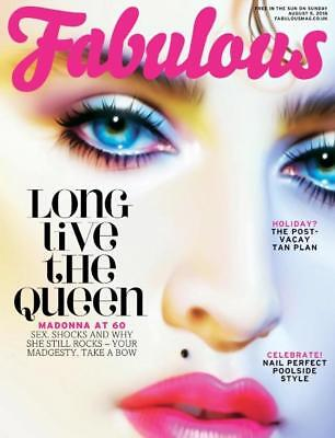 Madonna At 60 Special Tribute UK Fabulous Magazine August 2018 cover clippings