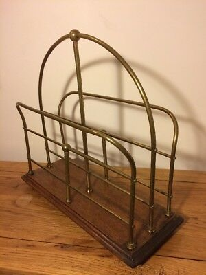 Edwardian Geometric Magazine Rack Antique With Mid Centuary Modern Look