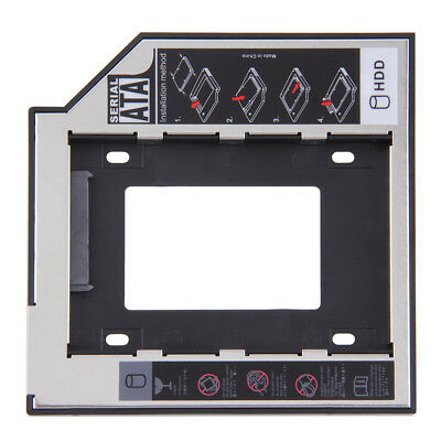 """2.5"""" to 3.5""""  9.5/12.7mm SATA 2nd SSD HDD Hard Drive Caddy for DVD-ROM CD LK"""