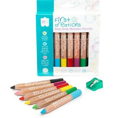 First Creations Easi-Grip Wooden Pencils - Set Of 6