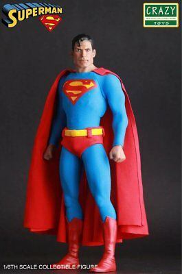 "Crazy Toy Dc 1/6Th Classic Superman Action Figure Collection 12"" Pvc Statue New"